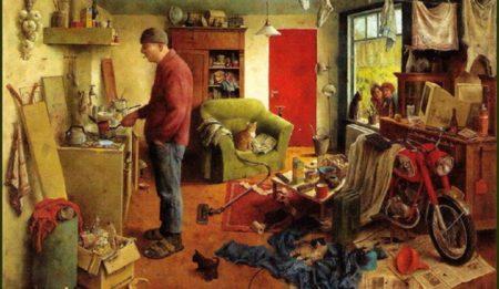 Уборка в холостяцкой квартире